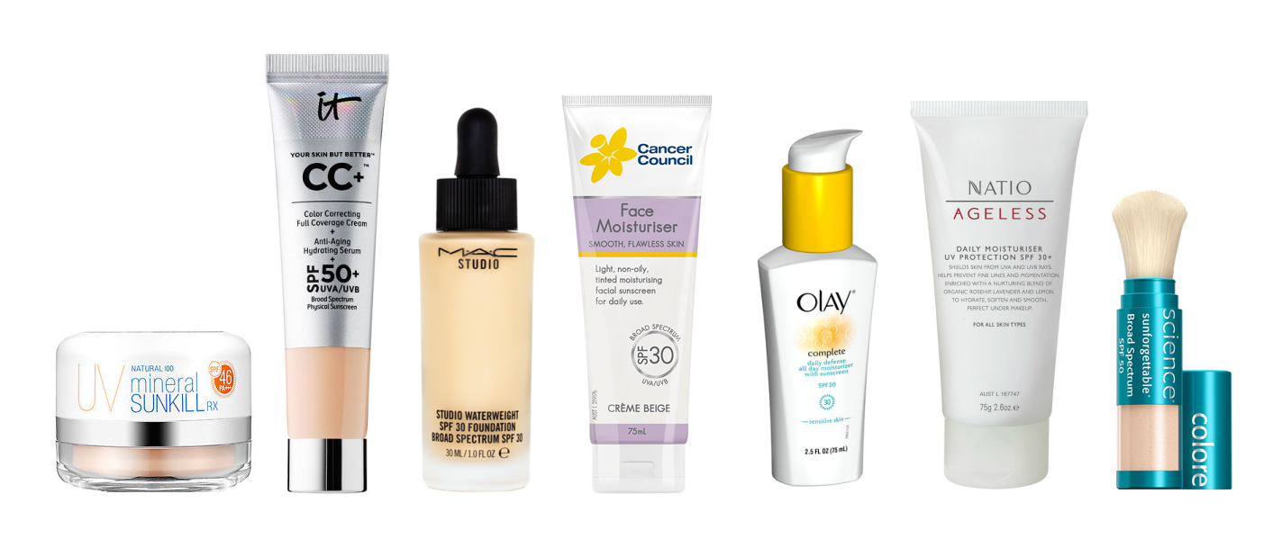 Sunscreens added to other products