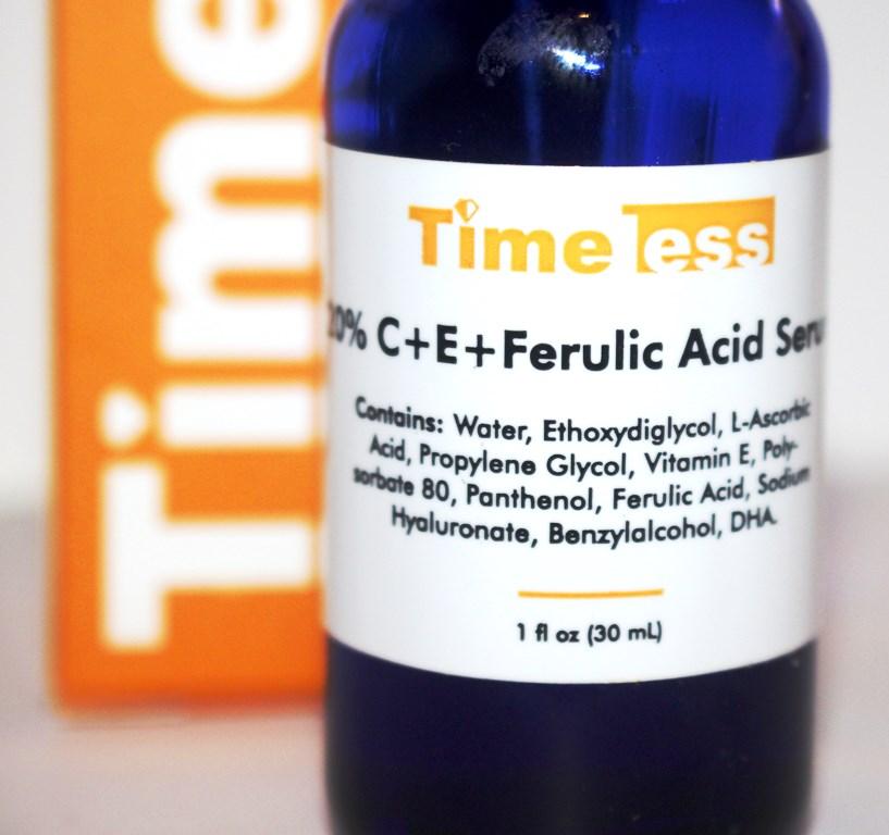 Timeless Vitamic C ingredient list