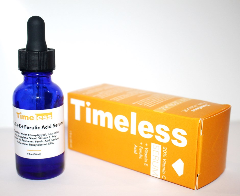 Timeless Vitamin C bottle and packaging