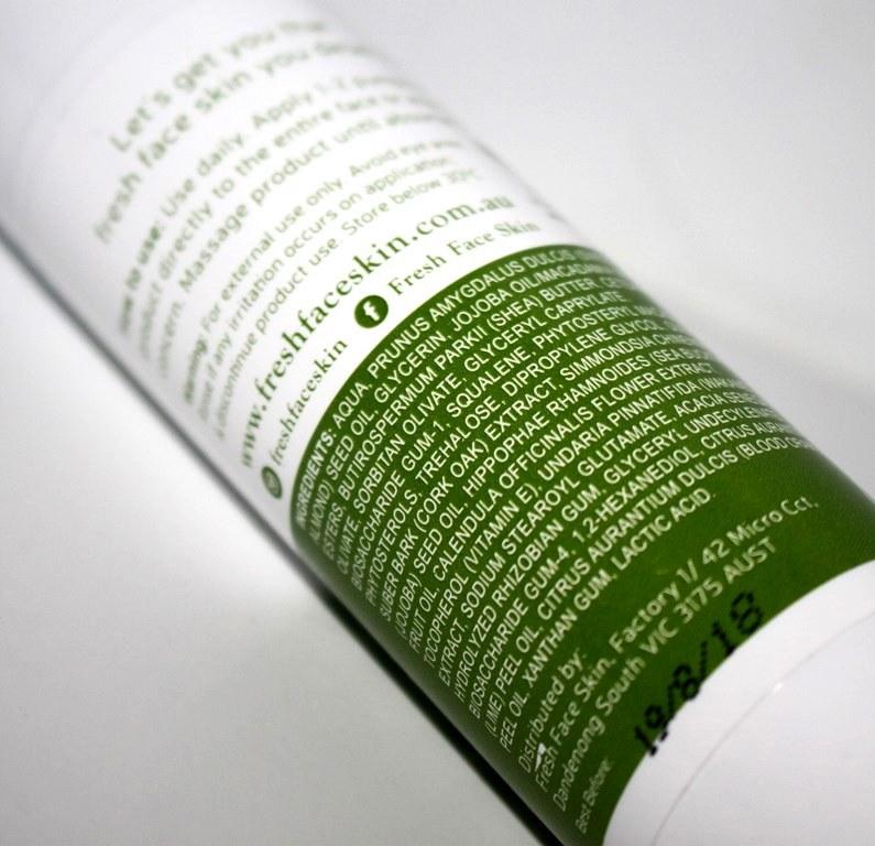Fresh Face Skin Overnight Reverser Ingredients