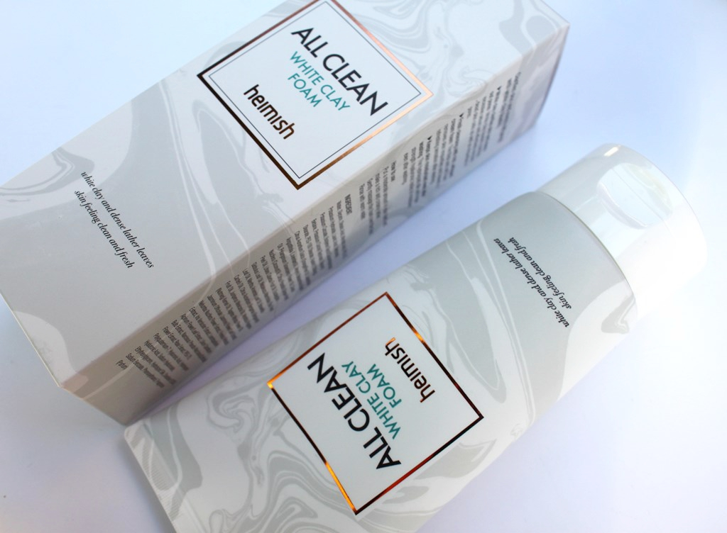 Heimish All Clean White Clay Foam Packaging