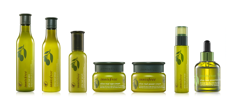 Innisfree Olive Oil Range - Photo Credit Innisfree