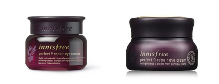 Innisfree Perfect 9 Repair Eye Cream Old And New; Image Credit: Innisfree