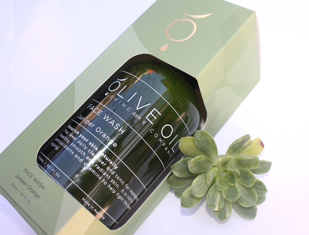 Olive Oil Skincare Company Juniper Orange Face Wash Packaging