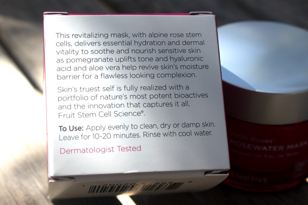 Andalou Naturals Rosewater Mask Description