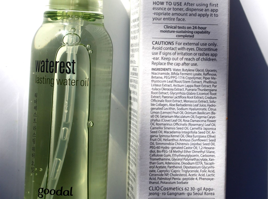 Goodal Waterest Lasting Water Oil Ingredients