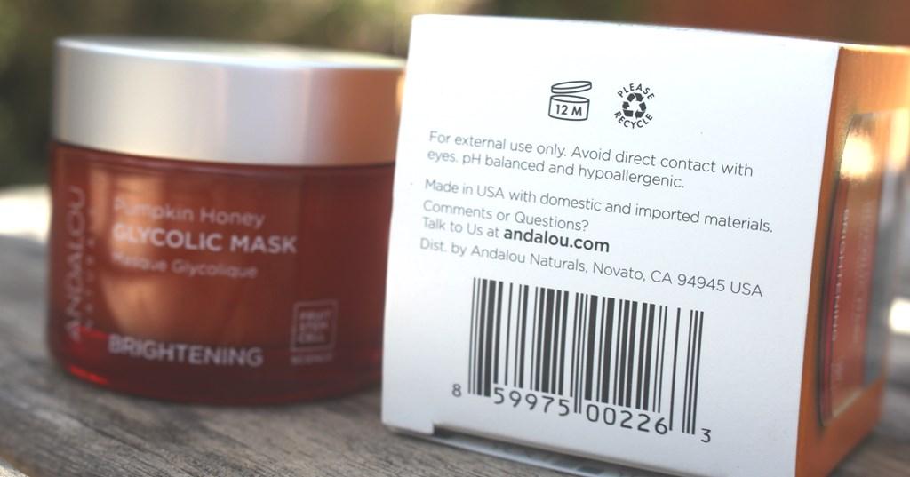 Andalou Naturals Pumpkin Honey Glycolic Mask Expiry