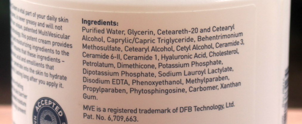 CeraVe Moisturizing Cream Ingredients