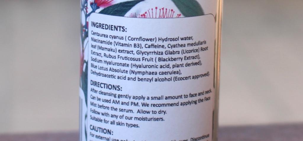 So Simple Plump + Hydrate Ingredients