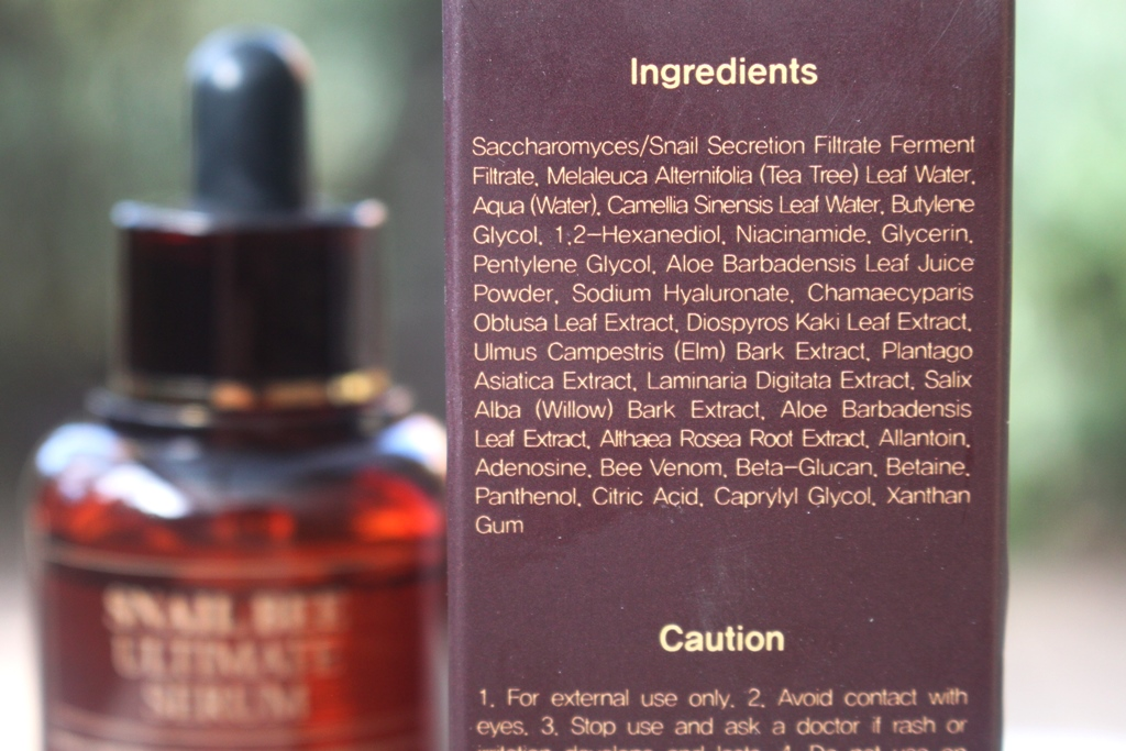 Benton Snail Bee Ultimate Serum Ingredients