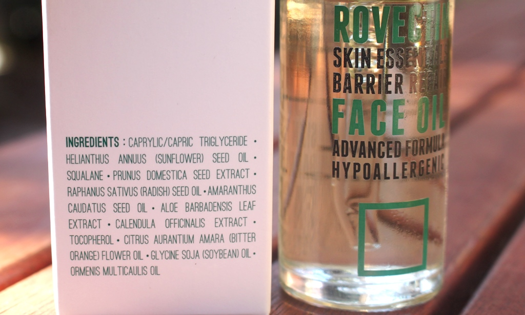 Rovectin Skin Essentials Barrier Repair Face Oil Ingredients