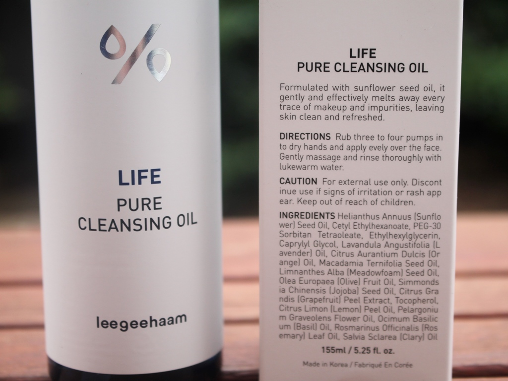 Dr. Ceuracle Life Pure Cleansing Oil Ingredients