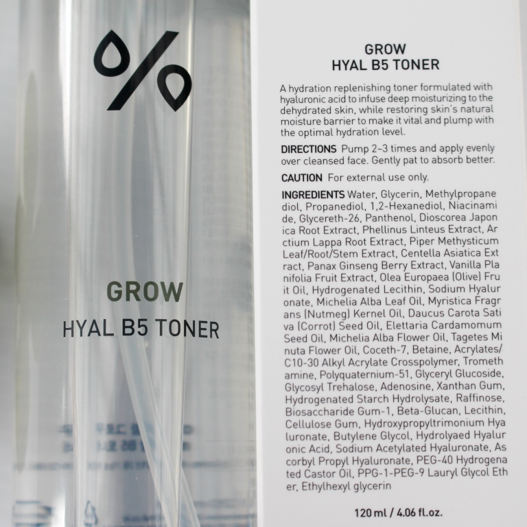 Dr. Ceuracle Grow Hyal B5 Toner Ingredients