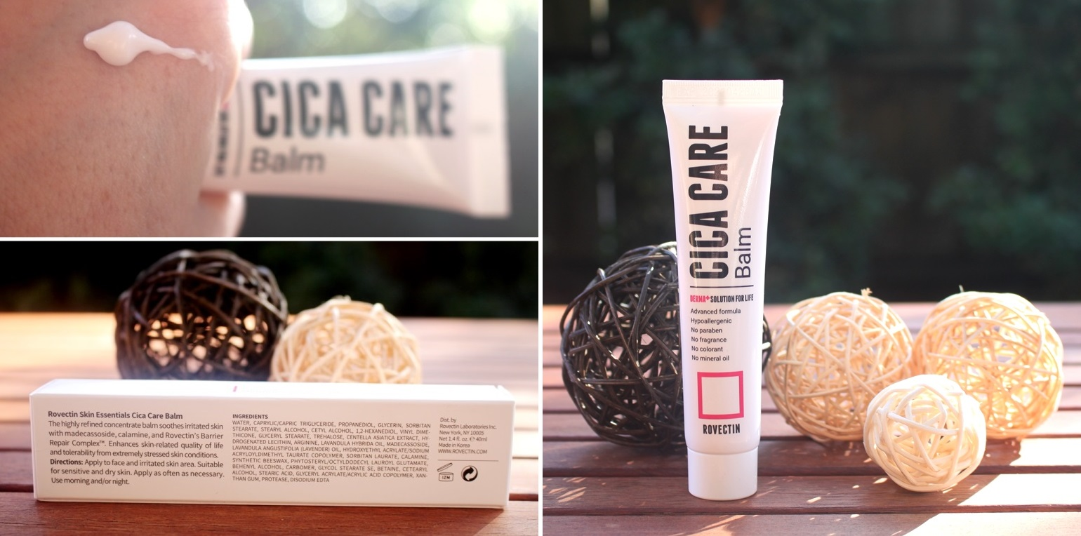 Style Korean Rovectin Set - Cica Care Balm: Texture, Ingredients and Tube