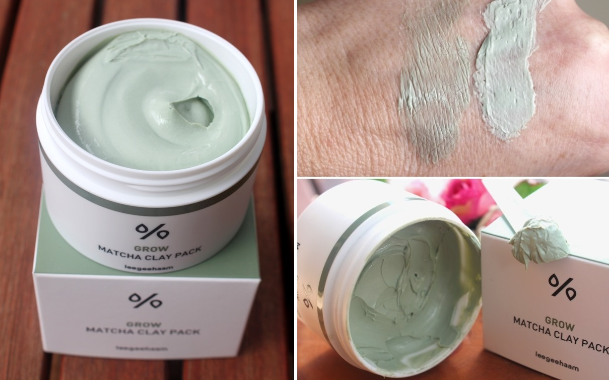 Leegeehaam Grow Matcha Clay Pack - Packaging and Texture