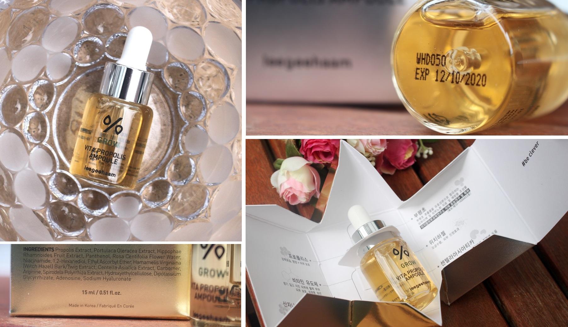 Leegeehaam Vita Propolis Ampoule - Packaging, Expiry and Ingredients