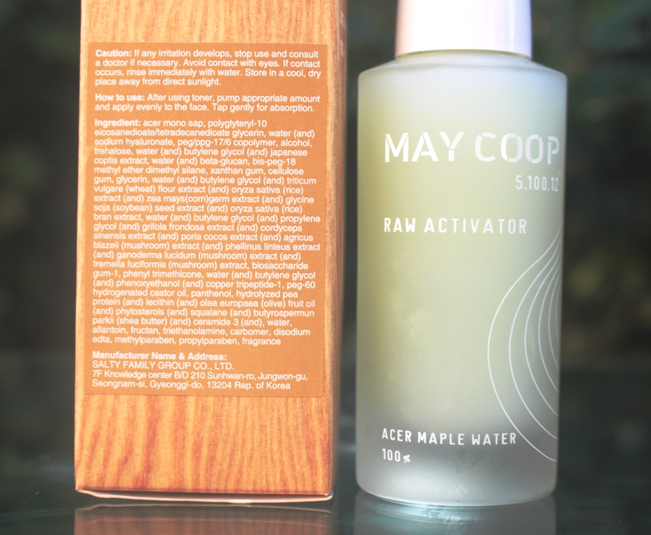 May Coop Raw Activator Ingredients