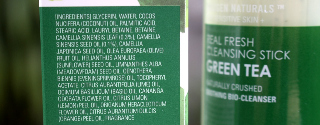 Neogen Green Tea Cleansing Stick Ingredients