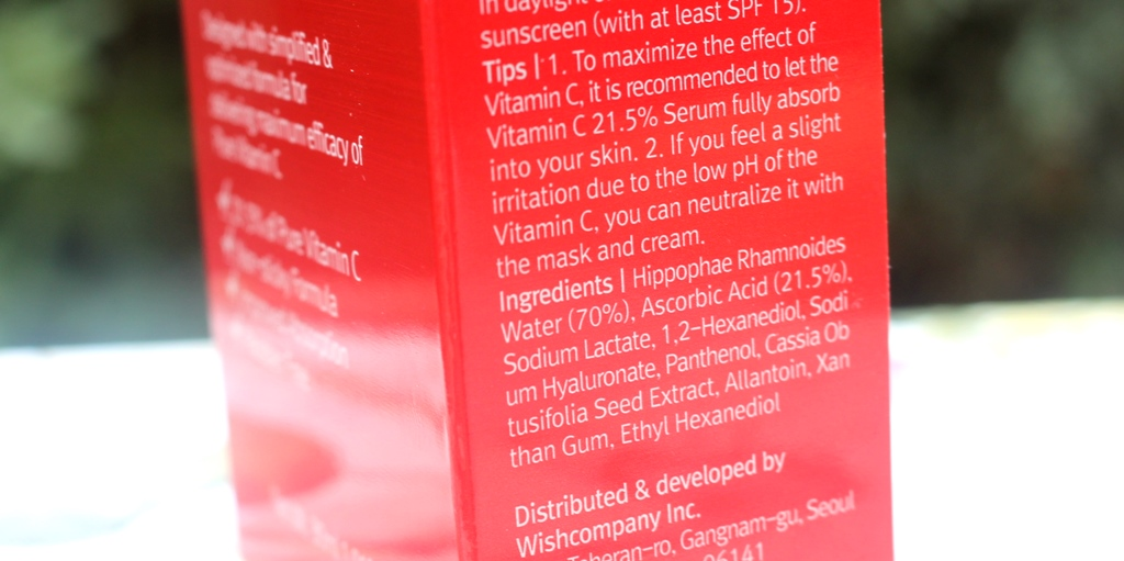 ByWishtrend Pure Vitamin C Ingredients