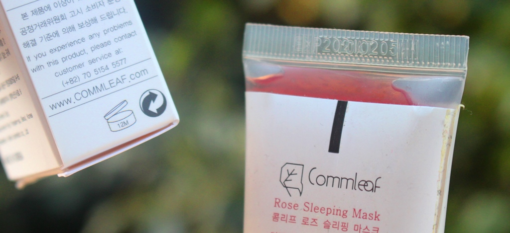 Commleaf Rose Sleeping Mask Expiry