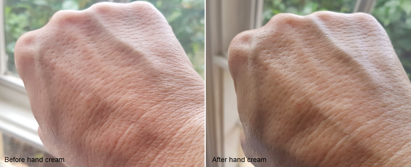 Benton Shea Butter And Olive Hand Cream Before and After