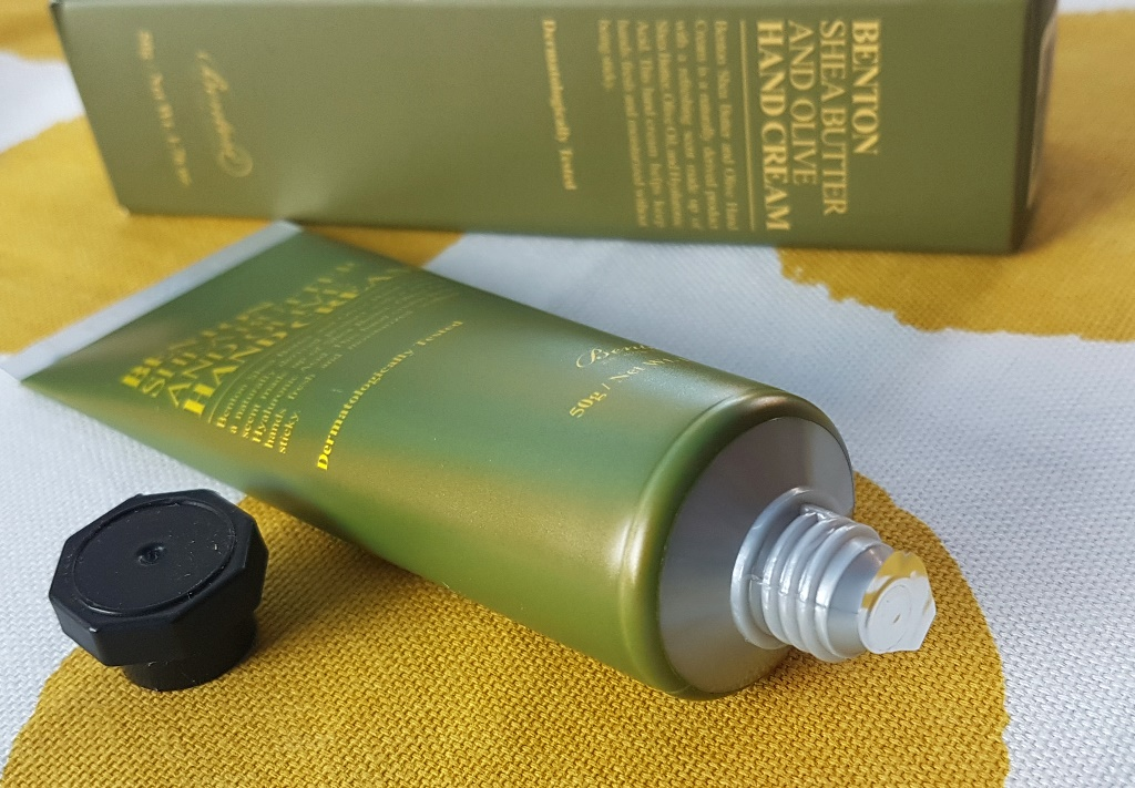 Benton Shea Butter And Olive Hand Cream Packaging