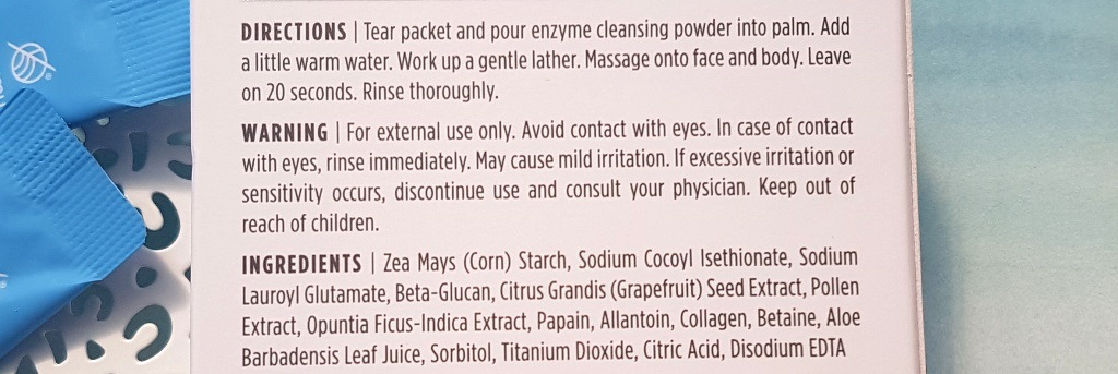 JKosmmune Enzyme Cleansing Powder Directions