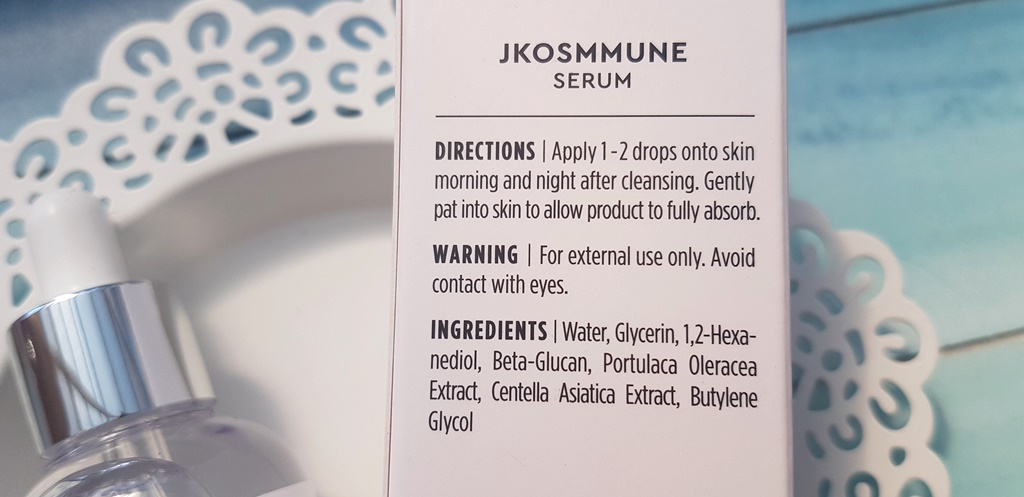 JKosmmune Serum Ingredients