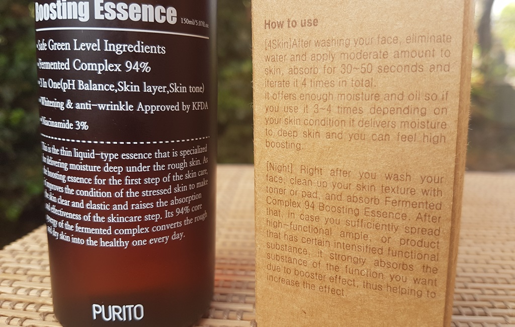 Purito Fermented Complex 94 Boosting Essence Directions