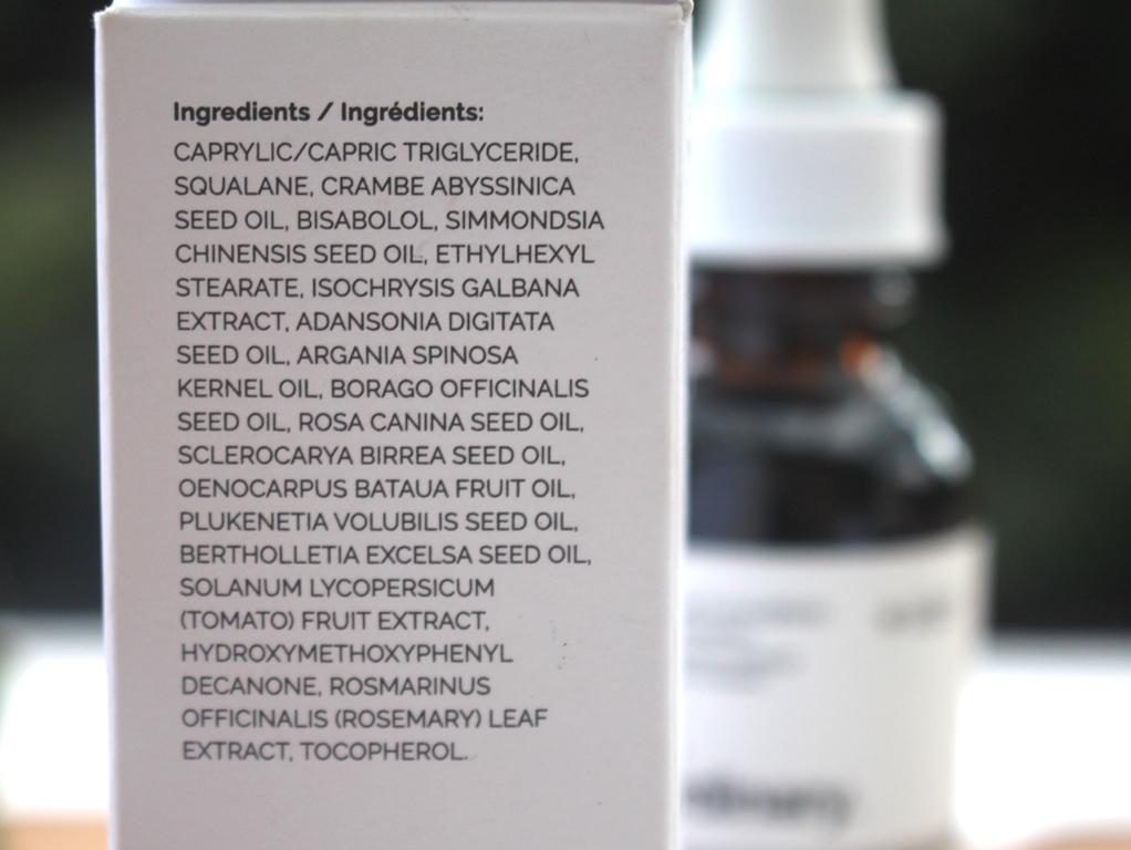 The Ordinary 'B' Oil Ingredients