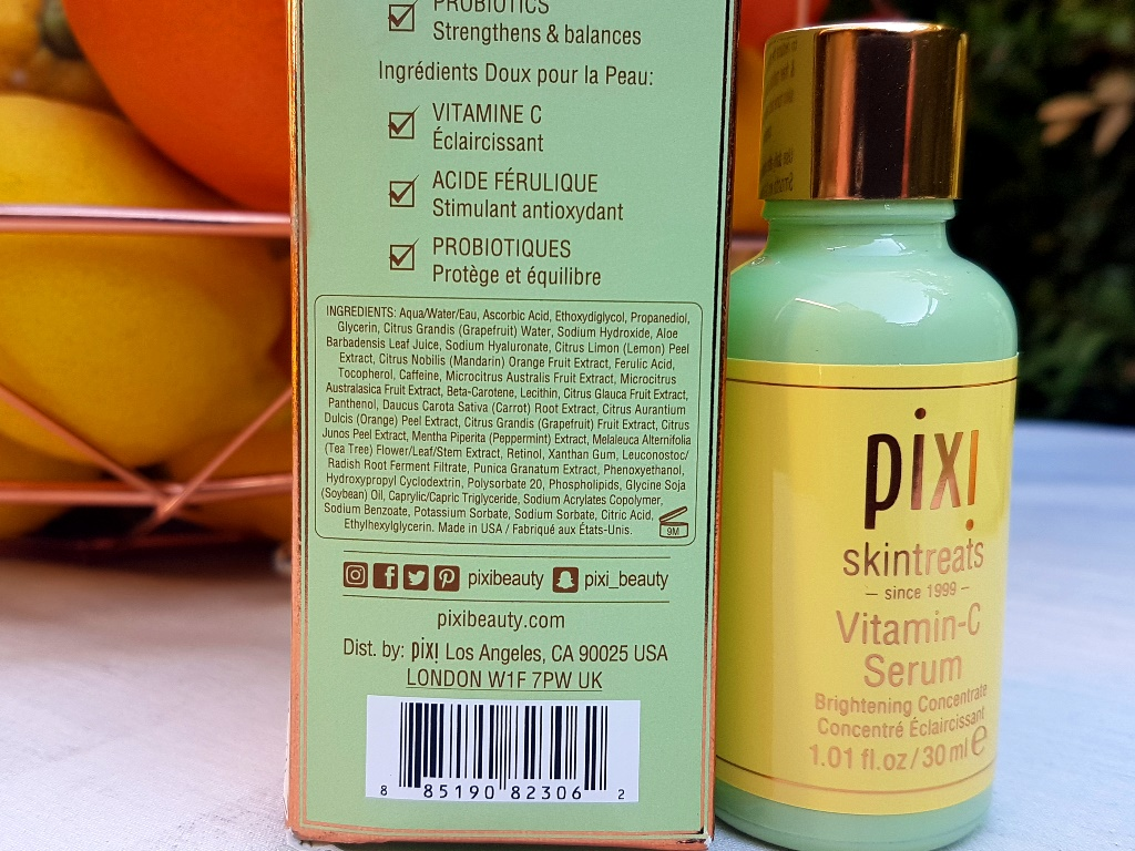 Pixi Vitamin C Serum Ingredients