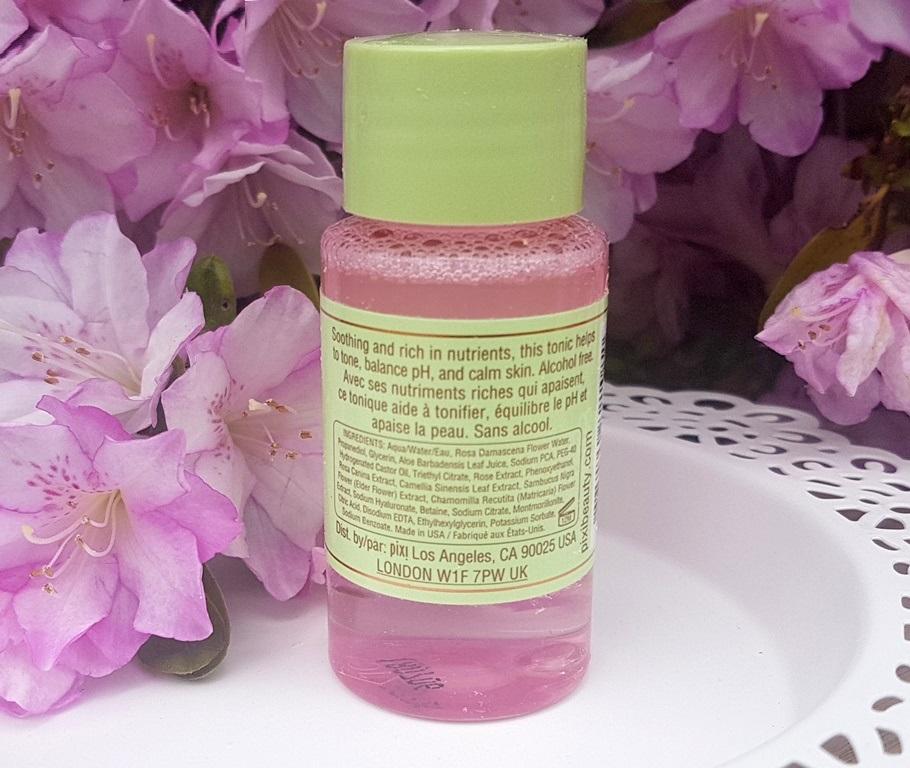 Pixi Rose Tonic Ingredients
