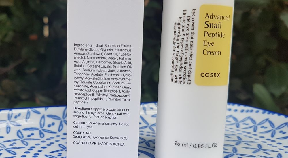 Cosrx Advanced Snail Peptide Eye Cream⁣ Ingredients