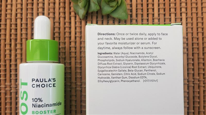 Paula's Choice Niacinamide Booster Ingredients
