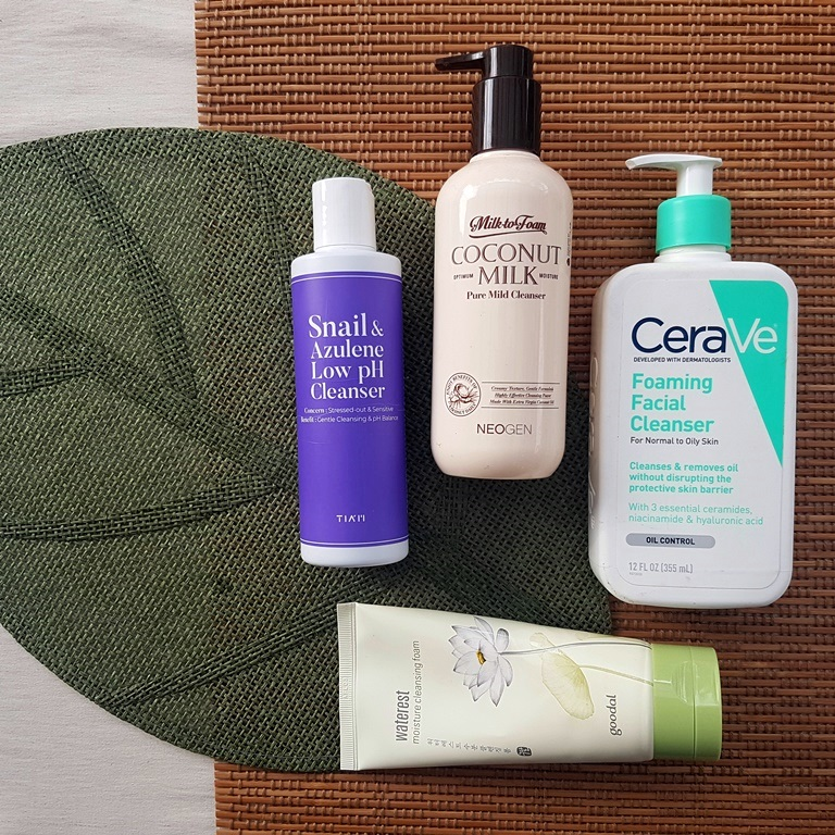 Examples of water based cleansers