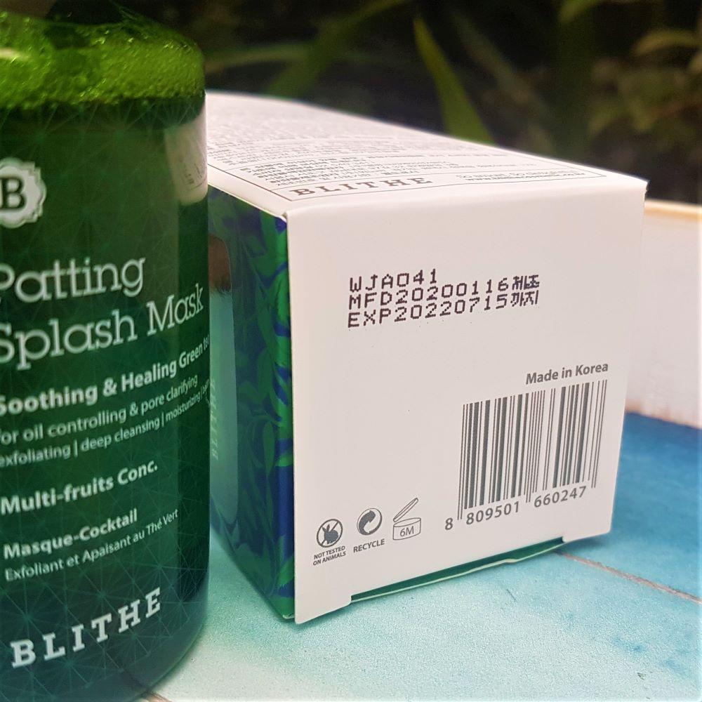 Blithe Patting Splash Mask Shelf Life