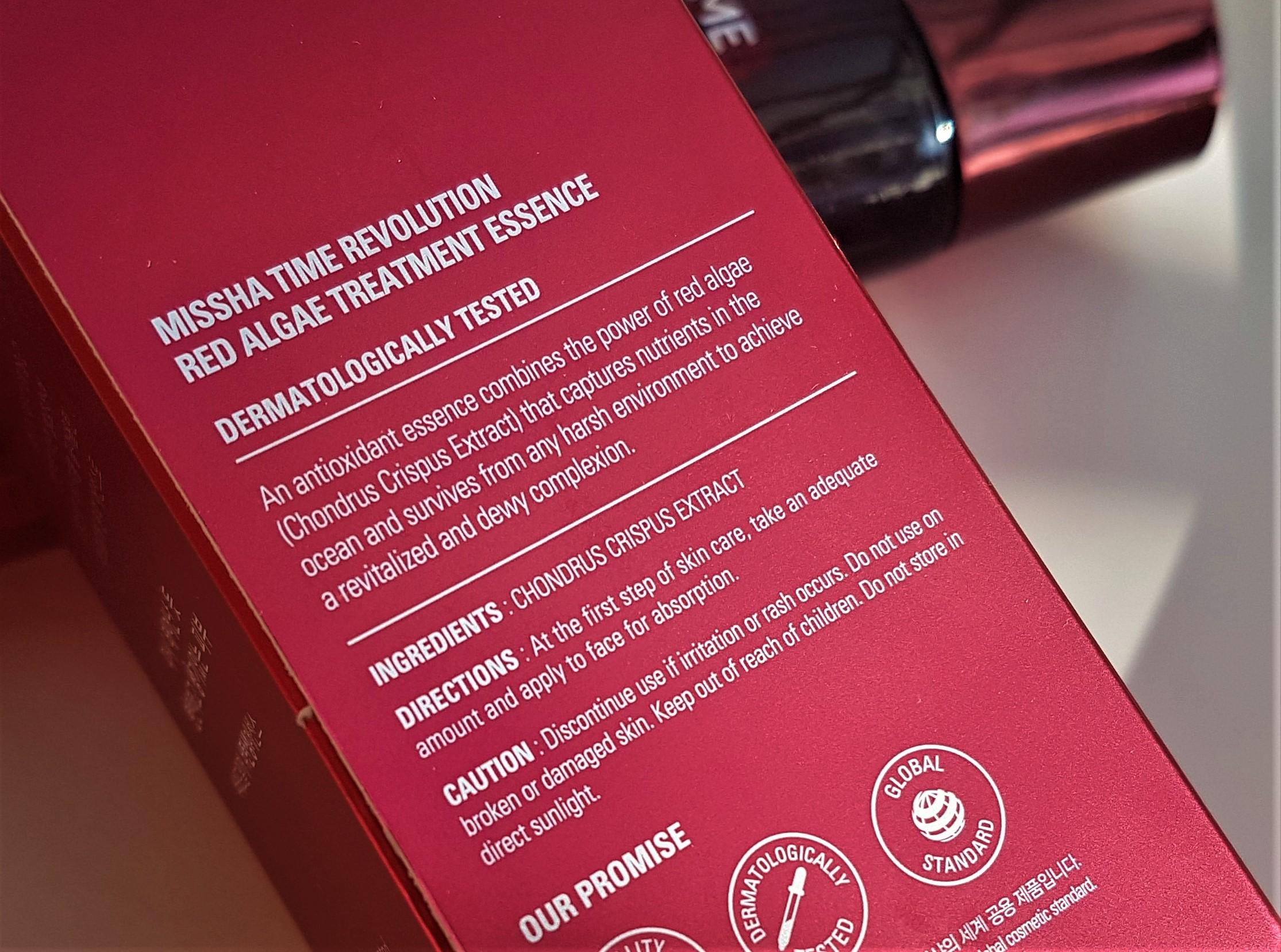 Missha Red Algae Treatment Essence Ingredients