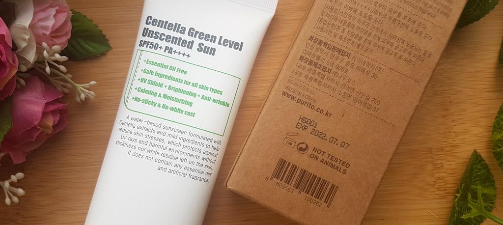 Purito Centella Green Level Unscented Sun Expiry