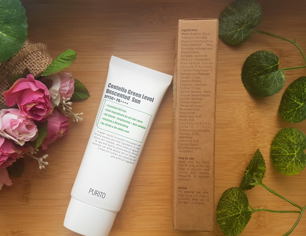 Purito Centella Green Level Unscented Sun Ingredients