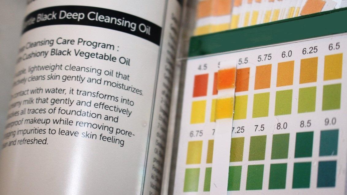 Klairs Gentle Black Deep Cleansing Oil pH Reading