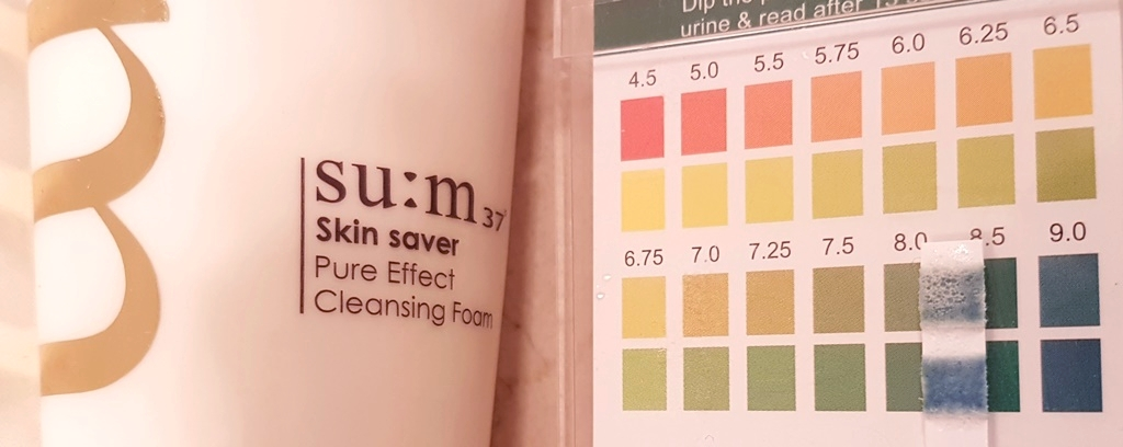 Su:m37° Skin Saver Pure Effect Cleansing Foam pH