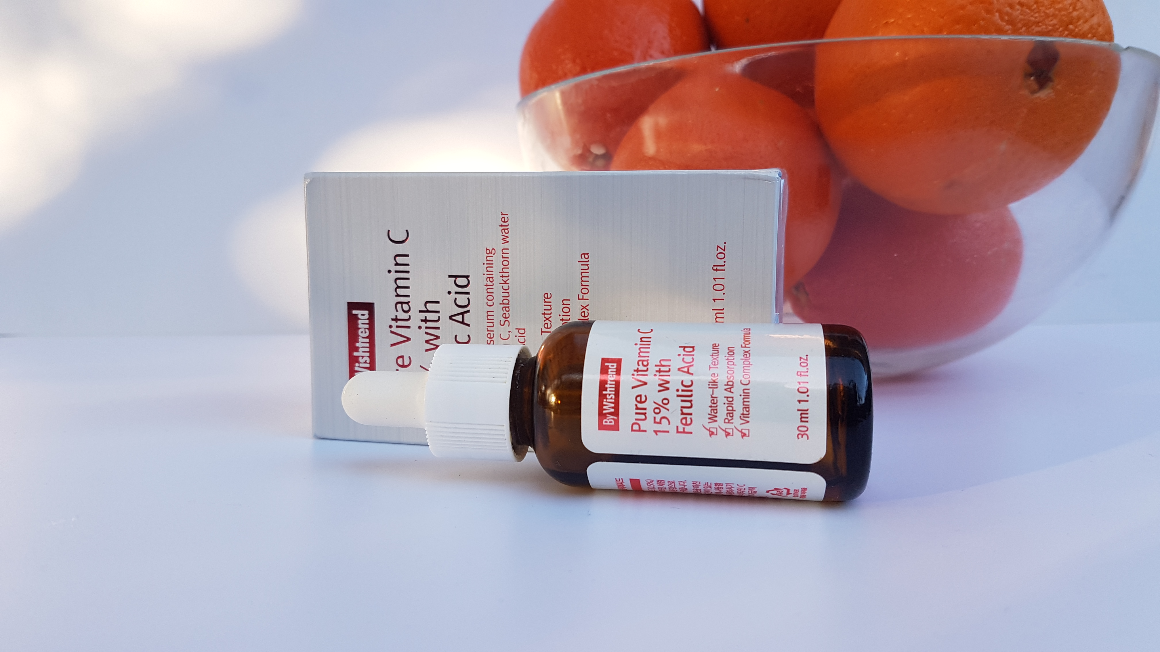 ByWishtrend Pure Vitamin C 15% with Ferulic Acid Ingredients