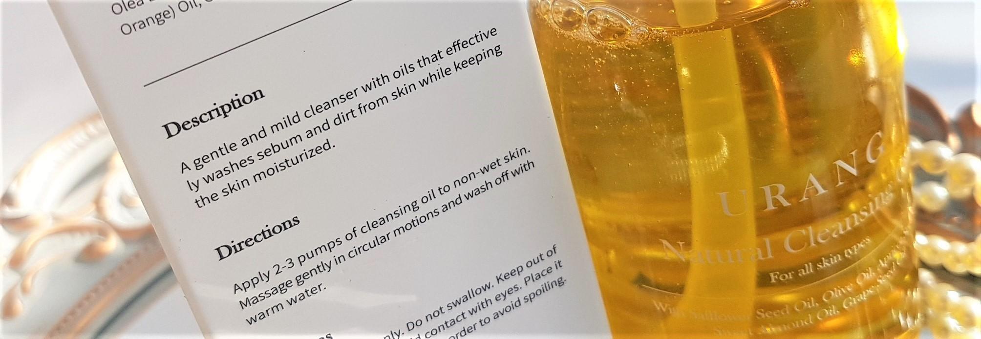 Urang Natural Cleansing Oil Application