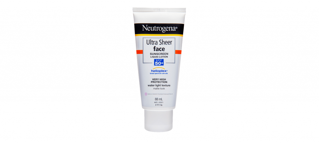 Neutrogena ultra sheer face sunscreen SPF 50+